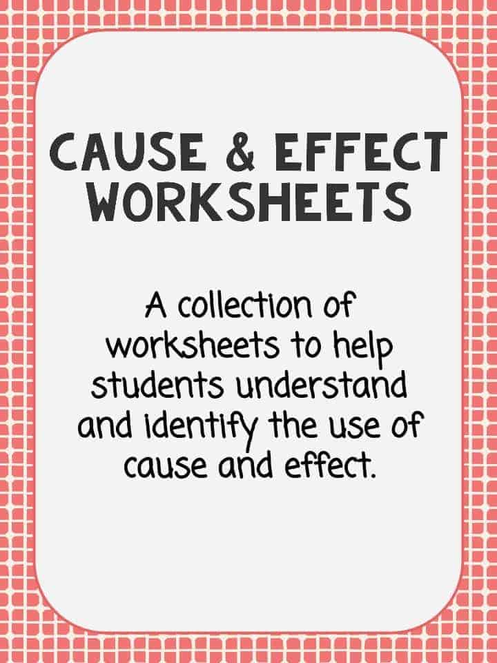 Cause and Effect Worksheet Printable PDF Study Guide – Cause and Effect Worksheets 3rd Grade