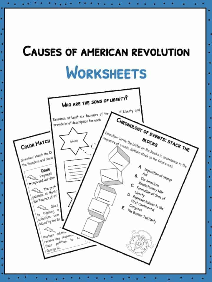 causes of the american revolution worksheet worksheets tutsstar thousands of printable activities. Black Bedroom Furniture Sets. Home Design Ideas