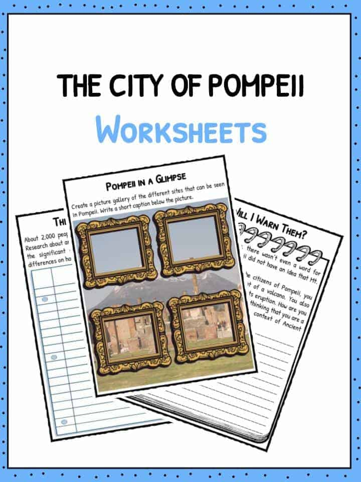 City Of Pompeii Worksheets