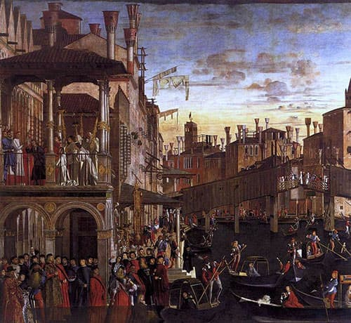 Miracle of the Relic of the Cross at the Ponte di Rialto by Vittore Carpaccio