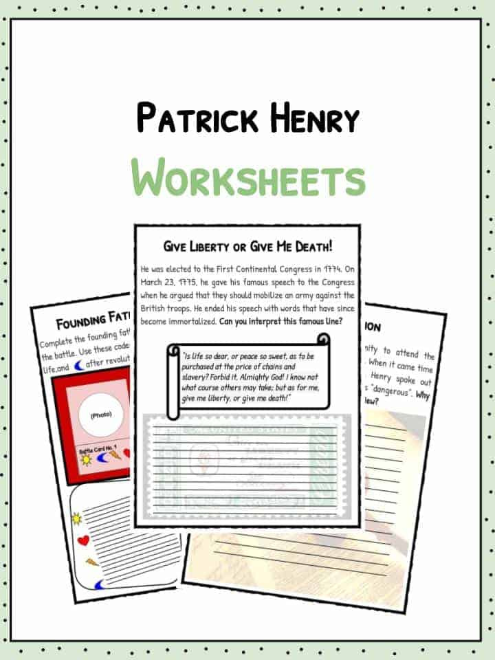 Patrick Henry Facts Biography Worksheets For Kids – Biography Worksheets