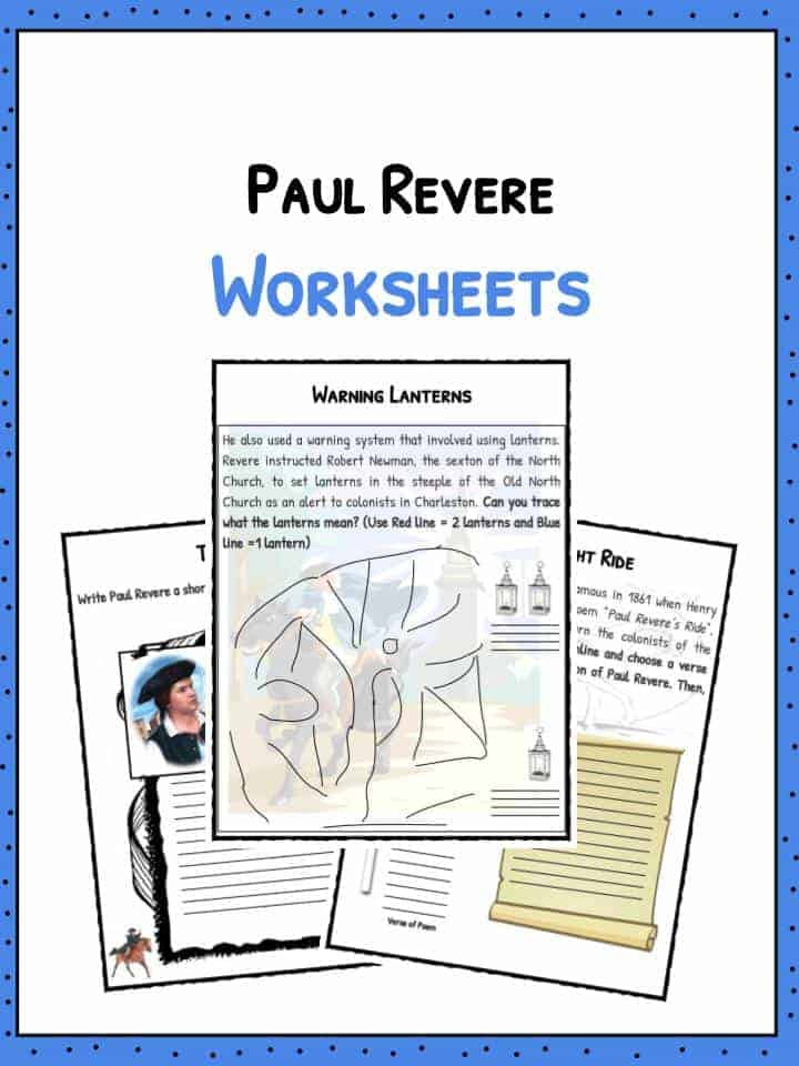 Learn To Write Name Worksheets Pdf Paul Revere Biography Facts And Worksheets For Kids Letter A B C Worksheets Word with Percentages To Fractions Worksheets Pdf Download The Paul Revere Biography Facts  Worksheets Circumference And Area Of A Circle Worksheets Pdf