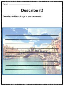 rialto bridge facts worksheets historic information for. Black Bedroom Furniture Sets. Home Design Ideas
