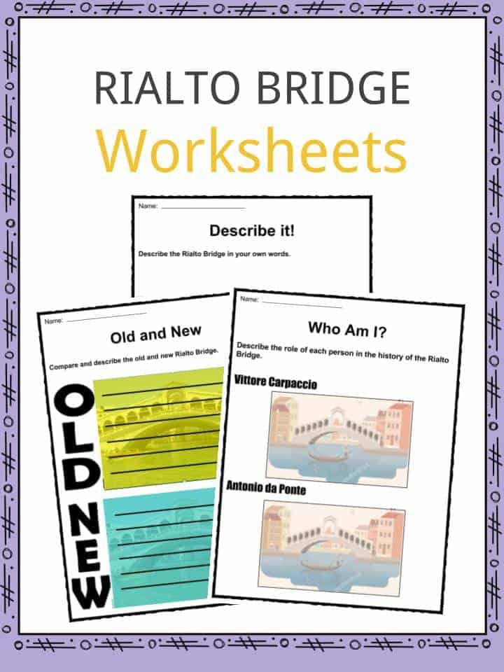 Rialto Bridge Worksheets