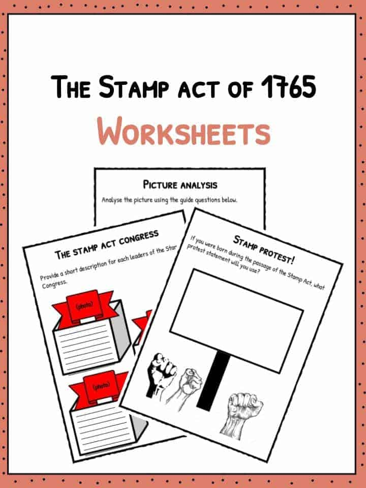 The Stamp Act of 1765 Worksheets