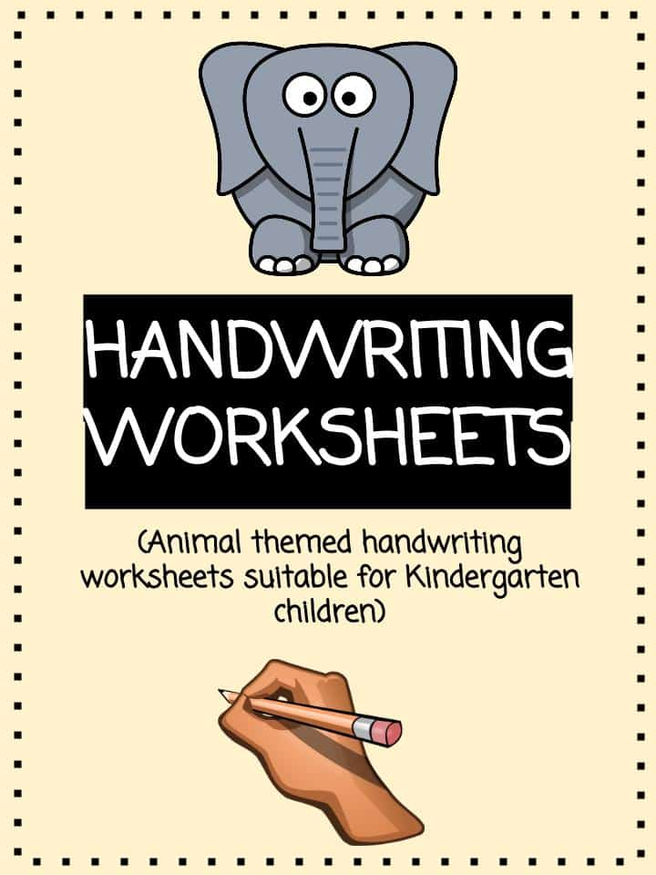 Animal Handwriting Worksheet