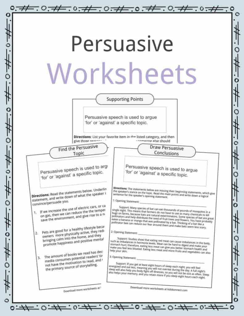 persuasive essay questions worksheet