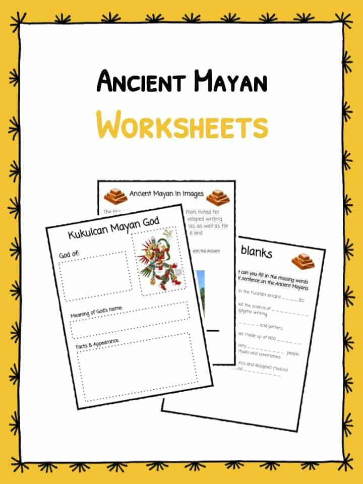 Ancient Mayan Worksheets u0026 Facts : KidsKonnect