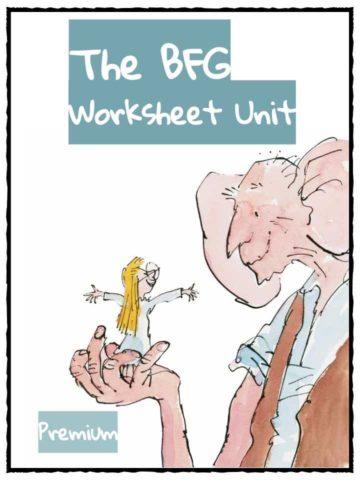 BFG Roald Dahl Worksheet