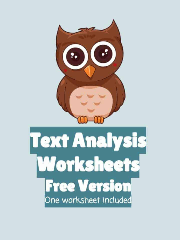 FREE Text Analysis Worksheets
