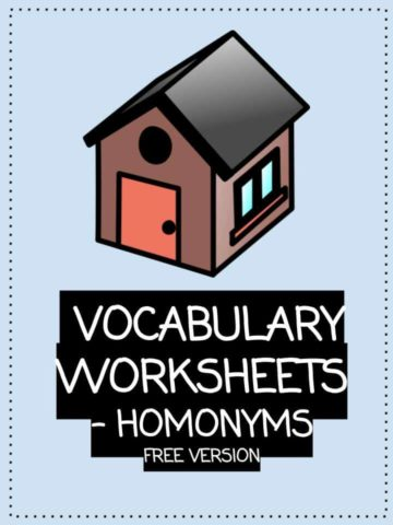FREE Vocabulary Worksheets