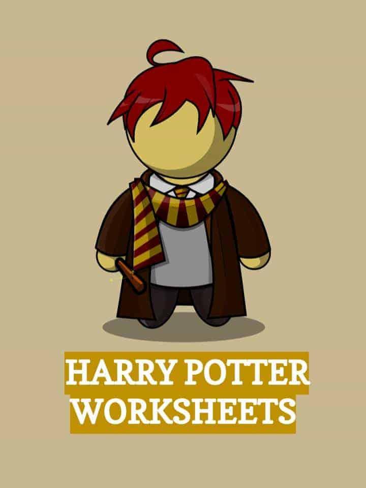 Harry PotterJK Rowling Worksheets PDF Study Guide – Harry Potter Worksheets