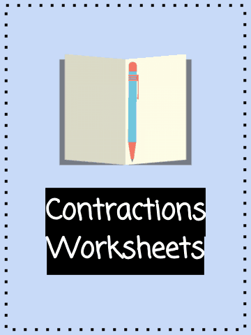 Contractions Worksheets