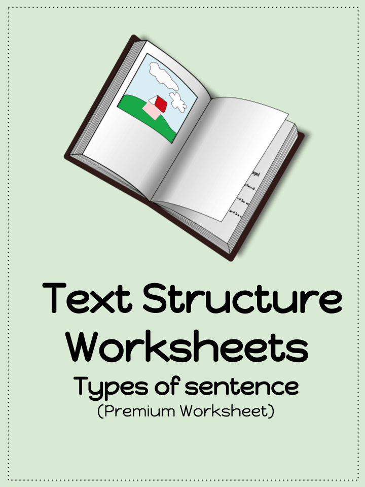 Text Structure Worksheets Types Of Sentences PDF – Text Structure Worksheets 5th Grade