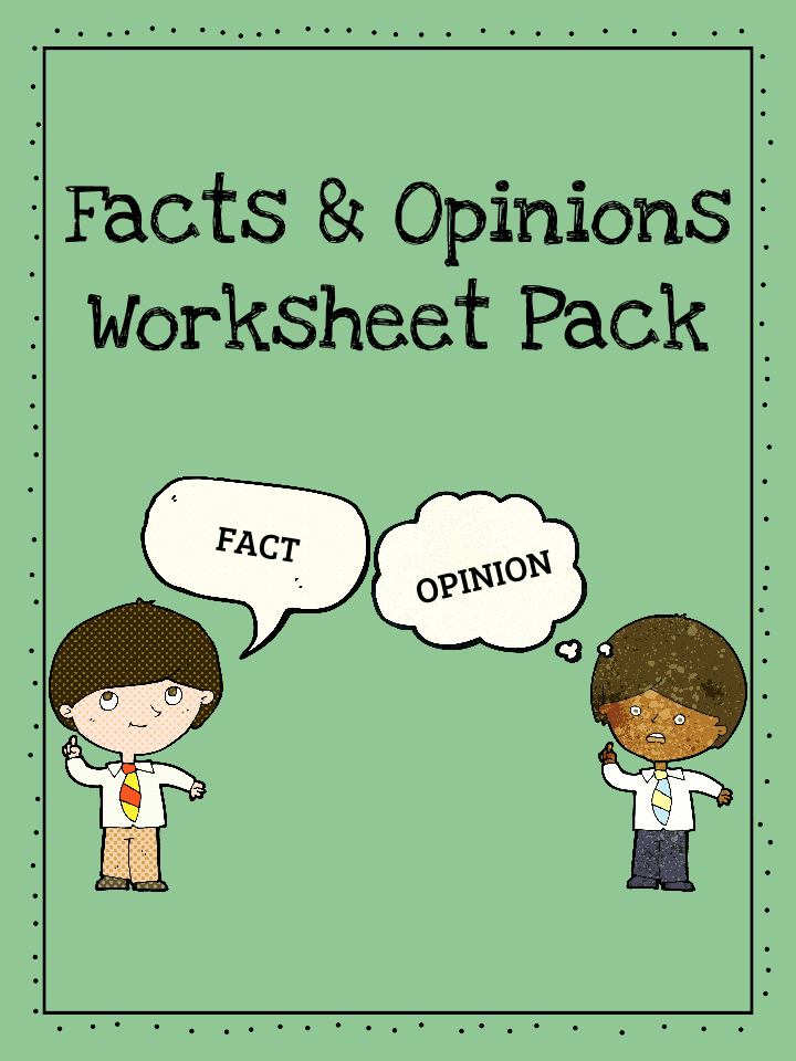Facts and Opinions Worksheets Teaching Resources – Fact and Opinion Worksheet