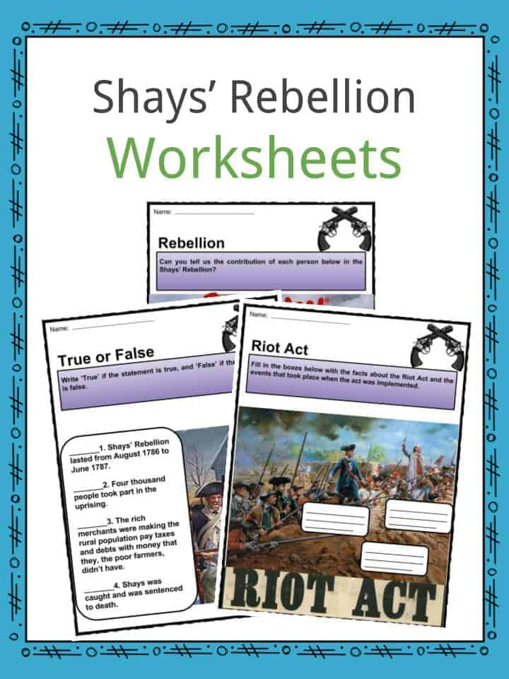 Shays Rebellion Worksheets