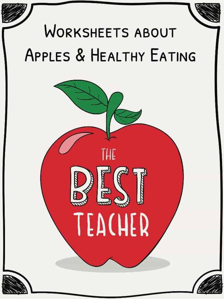 Apple Worksheets and Healthy Eating – Healthy Eating Worksheets