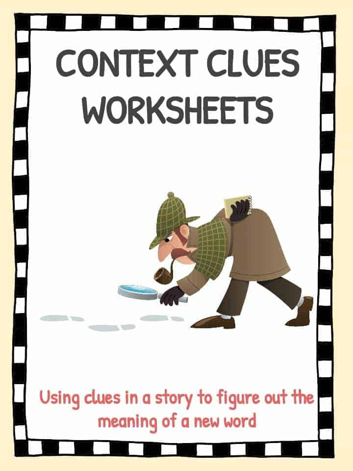 image relating to Clue Sheets Printable named Context Clues Worksheets KidsKonnect