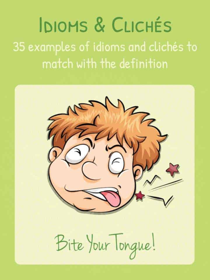 Printable Worksheets worksheets on idioms : Idioms Worksheets and Examples | List of Clichés & Idioms | Kids ...