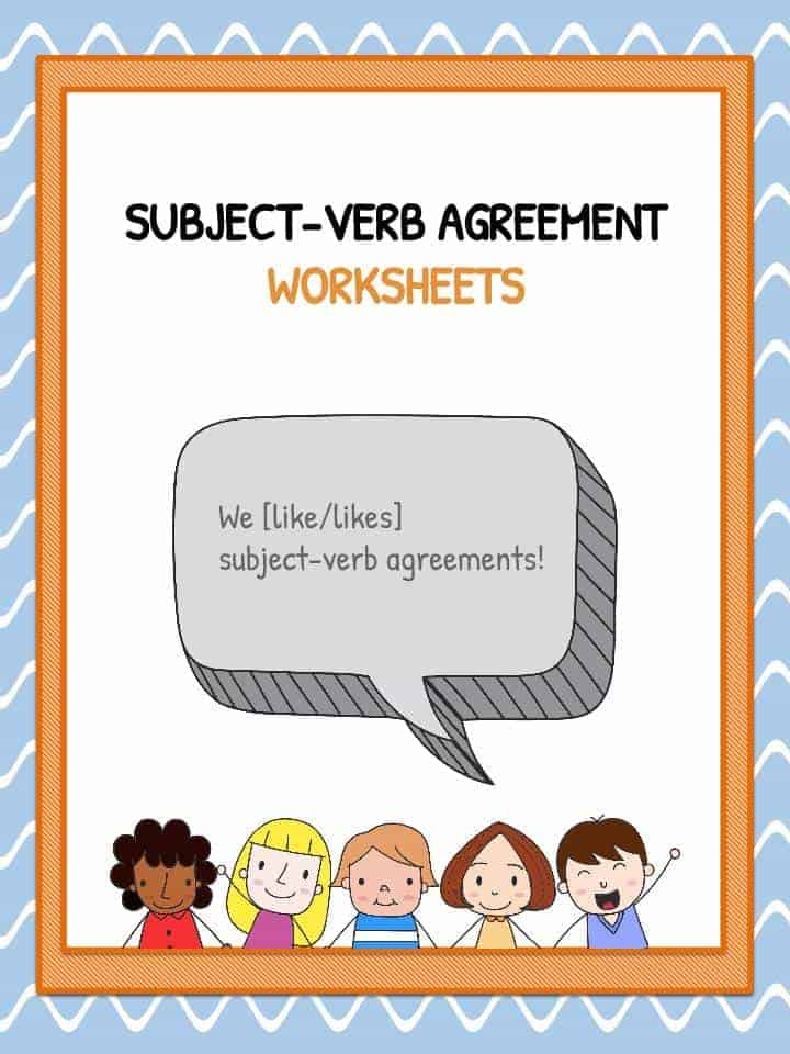 subject verb agreement worksheets kidskonnect. Black Bedroom Furniture Sets. Home Design Ideas
