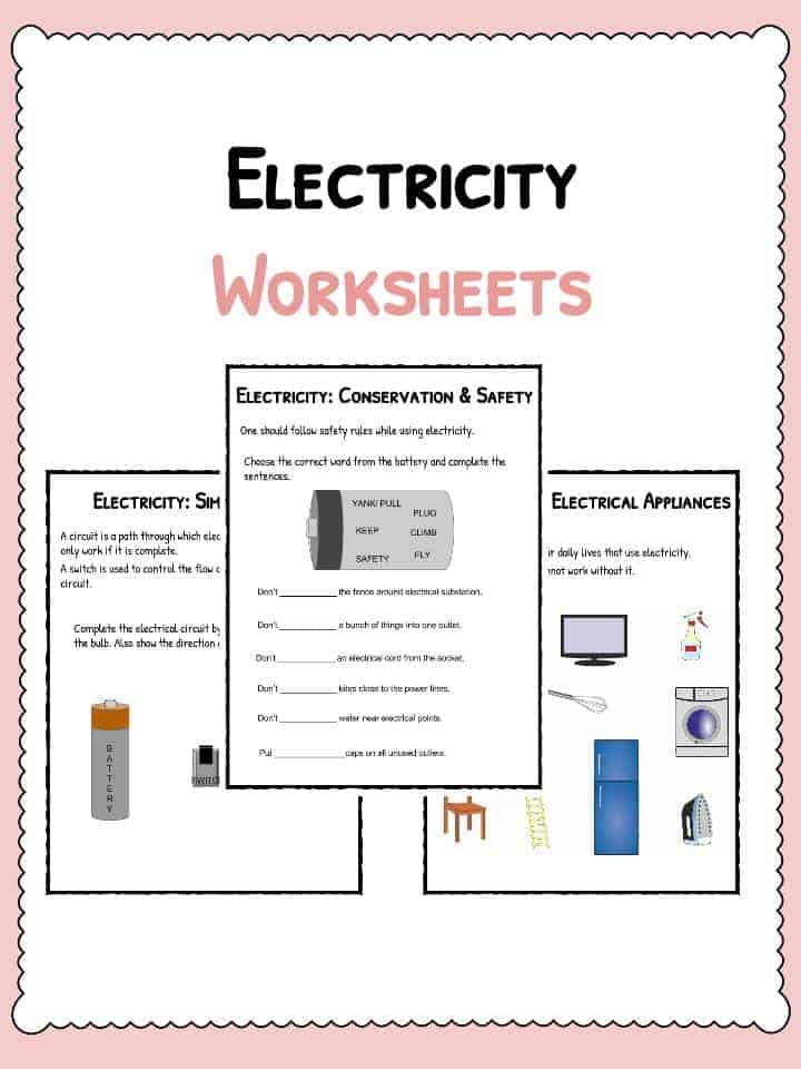 Electricity Worksheets – Electricity Worksheets