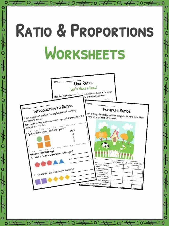 Ratio and Proportion Worksheets – Ratio Table Worksheet