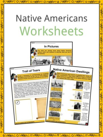 Native Americans Worksheets
