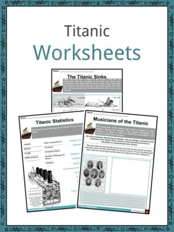 Titanic Worksheets