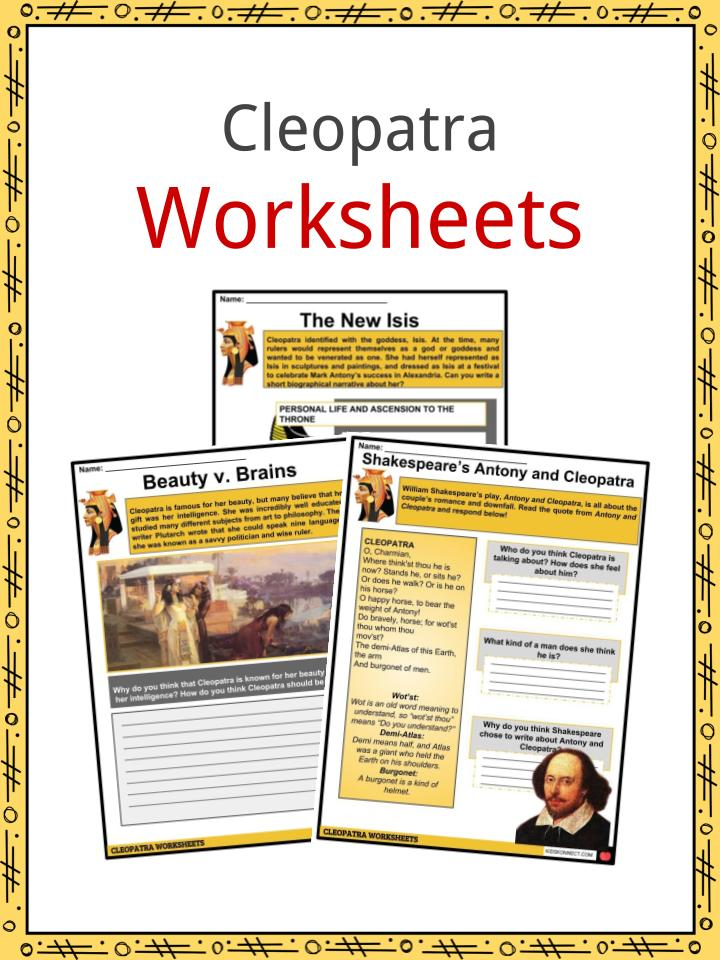 Cleopatra Facts Worksheets Rule Of Egypt Throne Death