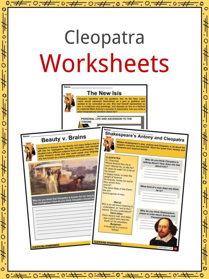 Cleopatra Worksheets
