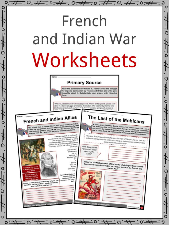 picture about Revolutionary War Timeline Printable identified as French Indian War Data Worksheets For Youngsters - 7