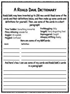 U Worksheet Roald Dahl Facts Information And Worksheets  Teaching Resources Spelling List Worksheet Pdf with Superstar Teacher Worksheets Pdf Roald Dahl Dictionary Worksheet A 2013 Eic Pdf