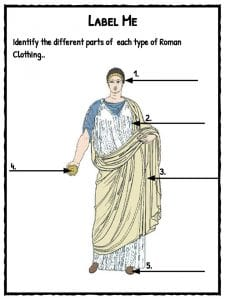 Ancient Roman Clothing Facts & Worksheets | Teaching Resources