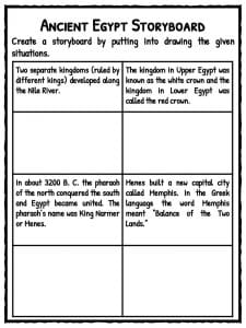 Selective image with ancient egypt printable worksheets