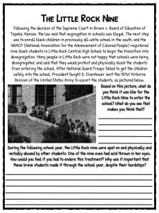 civil rights movement facts worksheets for kids teaching resource. Black Bedroom Furniture Sets. Home Design Ideas