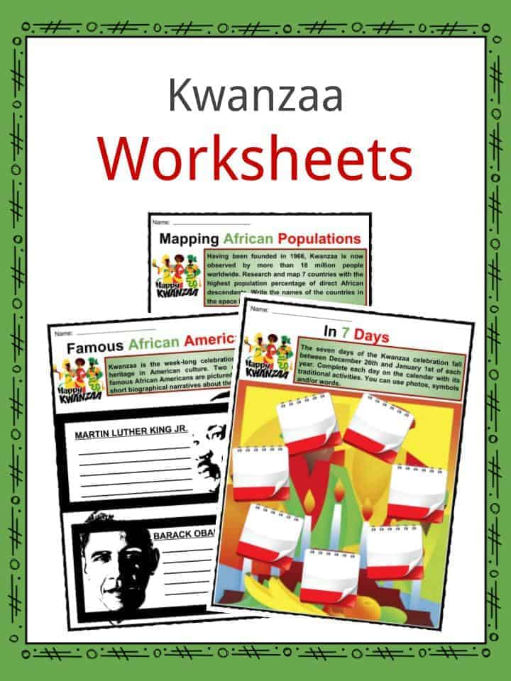 Kwanzaa Worksheets