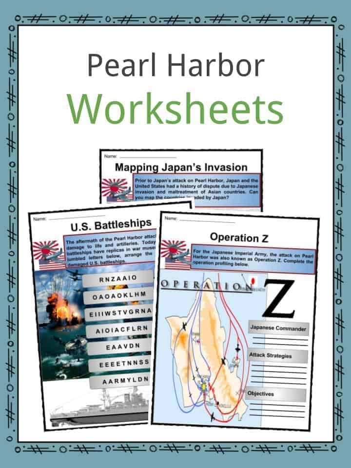 Worksheets For The Pearl : Pearl habor facts worksheets information political