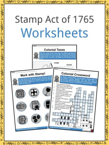Stamp Act of 1765 Worksheets