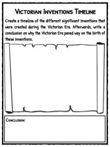 Victorian Inventions Facts, Timeline & Worksheets for Kids