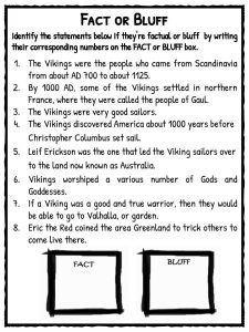 Viking Worksheets - Vintagegrn