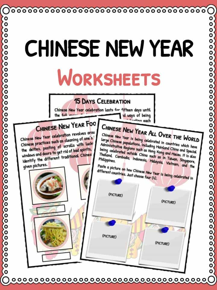 Chinese New Year Worksheets Facts Information For Kids – Chinese Worksheets