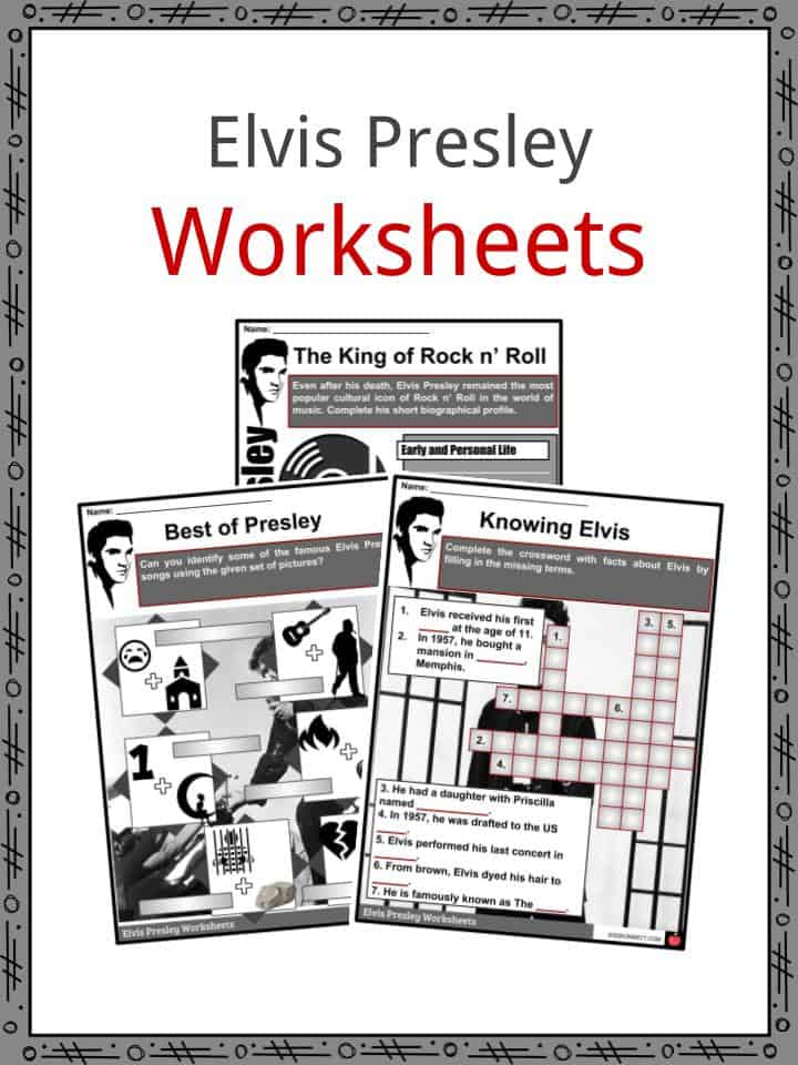 image regarding Prayer Rock Poem Printable named Elvis Presley Info, Biography, Articles Worksheets For