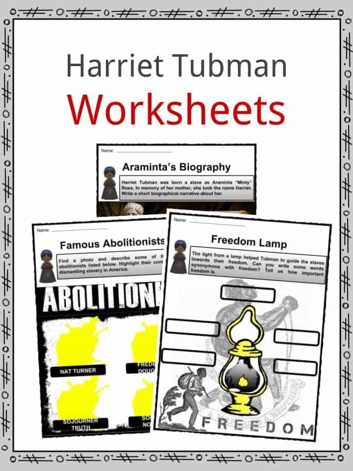 Harriet Tubman Facts Worksheets Information Biography For Kids – Harriet Tubman Worksheet