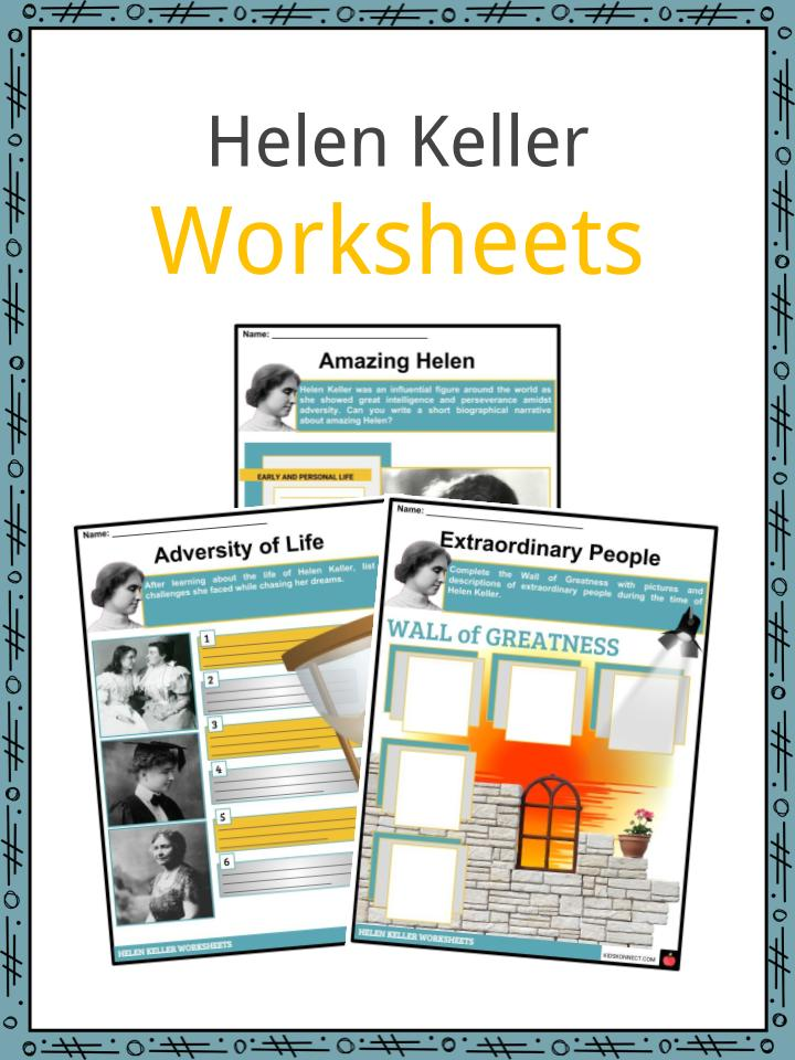 Helen Keller Worksheets