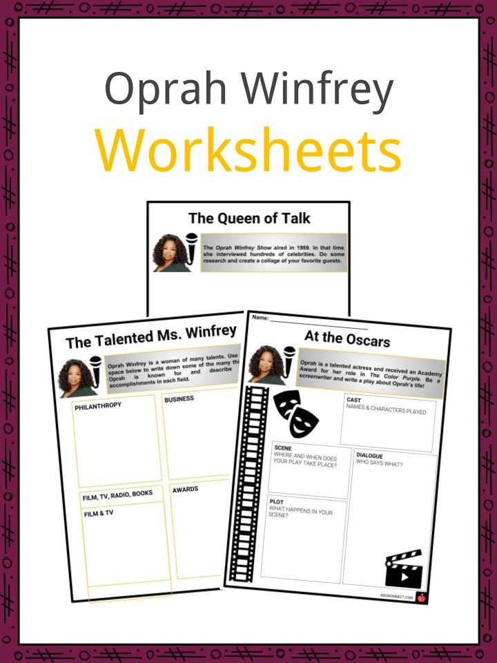 Oprah Winfrey Worksheets