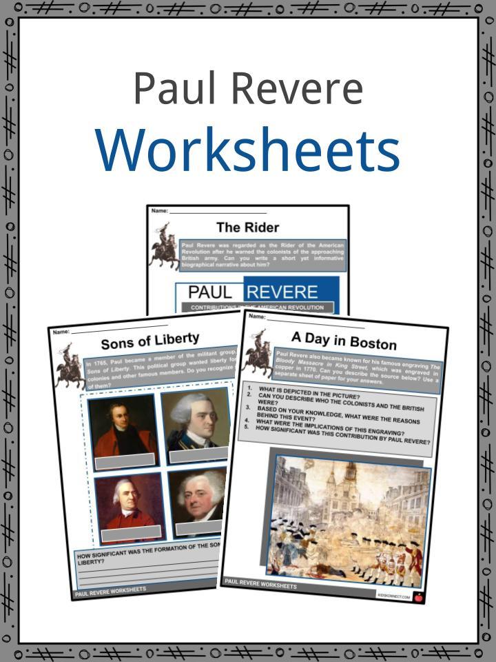 Paul Revere Worksheets