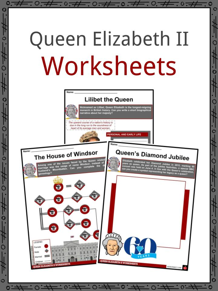 Queen Elizabeth II Worksheets