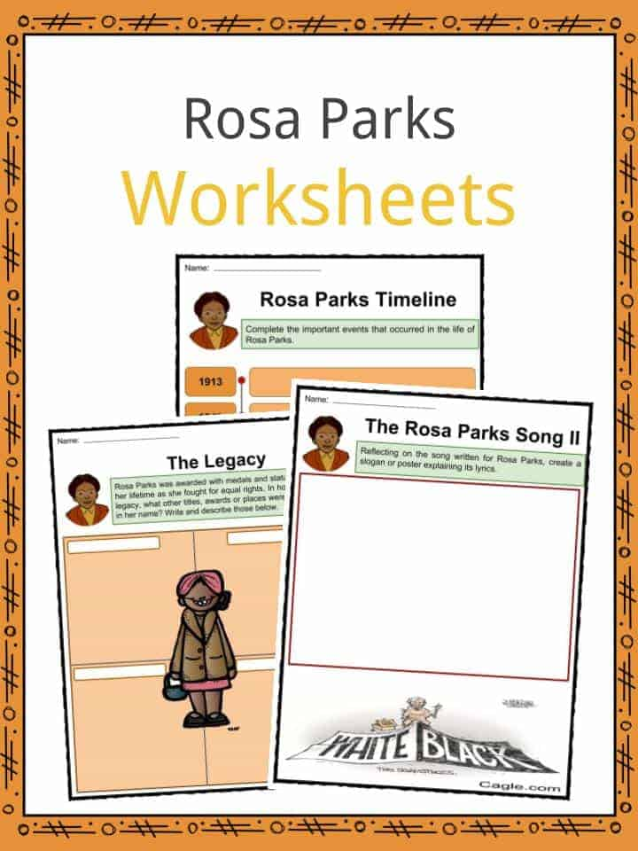 Rosa Parks Worksheets