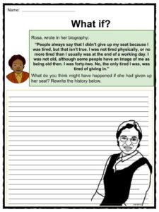 Rosa Parks Facts, Worksheets, Information & Biography For Kids