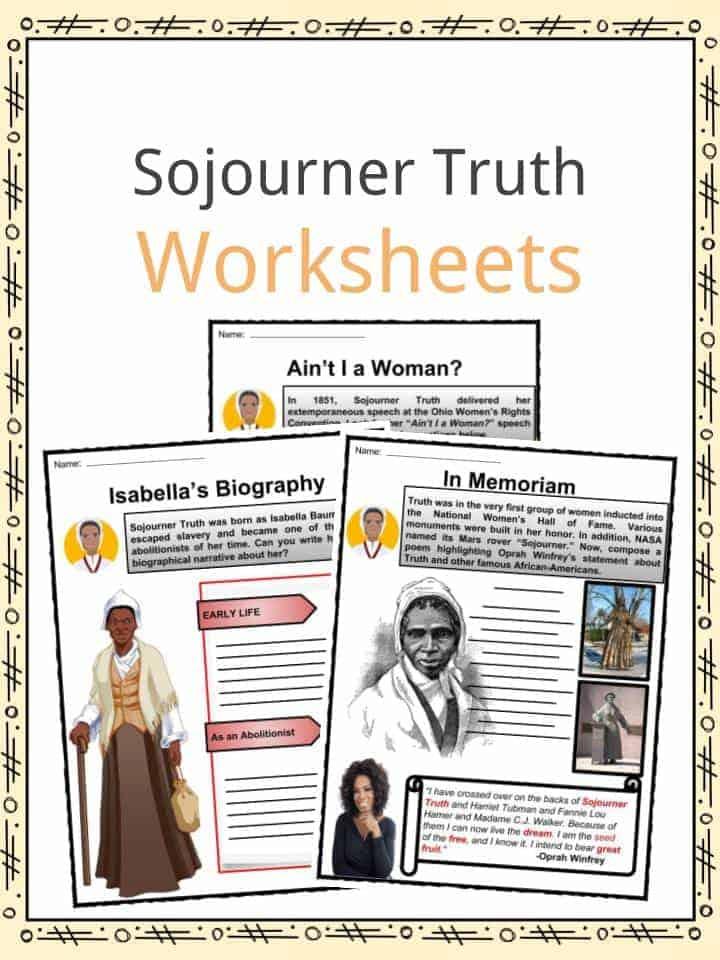 Sojourner Truth Worksheets